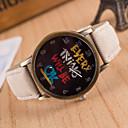 baratos Gargantilhas-Homens Relógio Esportivo Relógio de Pulso Quartzo Mostrador Grande Tecido Banda Analógico Amuleto Fashion Relógio Elegante Cores Múltiplas - Amarelo Vermelho Rosa claro