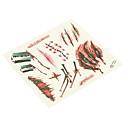 billige Negle Sticker-1 pcs Tatoveringsklistermærker Midlertidige Tatoveringer Ikke Giftig / Halloween Kropskunst Krop / hænder / arm