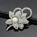 cheap Wedding Shoes-Women's Brooches - Pearl, Crystal, Cubic Zirconia Flower Ladies, Party, Work, Fashion Brooch White For Wedding / Party / Special Occasion