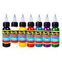 cheap Tattoo Transfers & Supplies-DAYPAL Tattoo Ink 7 x 30 ml Professional - Bright Red / Golden Yellow / Grape