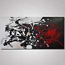 billige Oljemalerier-Hang malte oljemaleri Håndmalte - Abstrakt Moderne Lerret
