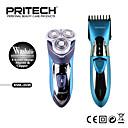 Χαμηλού Κόστους Ξύρισμα & Αποτρίχωση-Pritech μάρκα 2 σε 1 επαναφορτιζόμενη ηλεκτρική αδιάβροχο μαλλιά χλοοτάπητα με πλένονται ξυριστική μηχανή ρυθμίζει την προσωπική φροντίδα