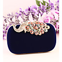 cheap Clutches & Evening Bags-Women's Bags Suede / Metal Evening Bag Crystal / Rhinestone Red / Blue / Royal Blue