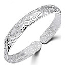 cheap LED Bulbs-Women's Bangles - Sterling Silver Flower Bracelet Silver For Daily / Casual / Sports