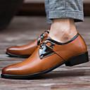baratos Oxfords Masculinos-Homens Sapatos de couro Couro Primavera / Outono Conforto Oxfords Antiderrapante Branco / Preto / Marron / Festas & Noite / Sapatas de novidade / Sapatos de vestir