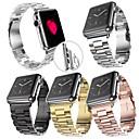 baratos Perucas Sintéticas com Renda-Pulseiras de Relógio para Apple Watch Series 4/3/2/1 Apple borboleta Buckle Aço Inoxidável Tira de Pulso
