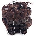preiswerte 3-Ton Haarverlängerungen-3 Bündel Brasilianisches Haar Locken / Curly Webart Unbehandeltes Haar Menschenhaar spinnt 8 Zoll Menschliches Haar Webarten Schlussverkauf Haarverlängerungen