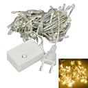 billige Trykk-jiawen® 10m 4w 100-ledet 8-modus varm hvitt lys dekorasjonstrenglys (eu-kontakt, vekselstrøm 220V)