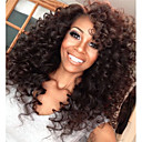 cheap Human Hair Wigs-Human Hair Lace Front Wig Brazilian Hair Kinky Curly Wig 130% Density with Baby Hair Natural Hairline African American Wig 100% Hand Tied Women's Short Medium Length Long Human Hair Lace Wig