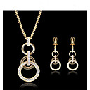 cheap Jewelry Sets-Women's Jewelry Set Jewelry Set - Cubic Zirconia, 18K Gold Plated Gold