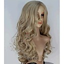 cheap Synthetic Capless Wigs-Synthetic Wig Wavy Synthetic Hair Middle Part Blonde Wig Women's Long Capless / Monofilament / L Part
