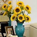 billige Kunstig Blomst-Kunstige blomster 1 Gren Europeisk Stil Solsikker Bordblomst