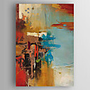 billige Trykk-Hang malte oljemaleri Håndmalte - Abstrakt Moderne Inkluder indre ramme