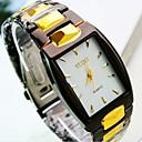 hesapli Elbise Saat-Erkek Bilek Saati Gündelik Saatler Paslanmaz Çelik Bant İhtişam Siyah / TY 377A