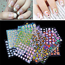 cheap Full Nail Stickers-30 pcs Flower / Fashion Nail Jewelry / 3D Nail Stickers Lovely Daily / PVC(PolyVinyl Chloride)