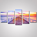 cheap Prints-Print Rolled Canvas Prints - Landscape / Romance / Leisure Classic Five Panels