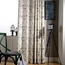 זול וילונות חלון-וילונות וילונות שני לוחות פשתן השינה / פוליאסטר תערובת הדפסה & Jacquard