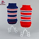 cheap Dog Clothes-Cat Dog Sweater Dog Clothes Stripe Red Blue Cotton Costume For Pets Men's Women's Casual/Daily Fashion