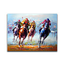 cheap Top Artists' Oil paitings-Oil Painting Hand Painted - People European Style Canvas