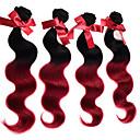 cheap Ombre Hair Weaves-4 Bundles Brazilian Hair Body Wave / Classic Virgin Human Hair Human Hair Weaves Human Hair Extensions