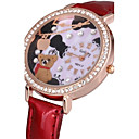 tanie Torby na ramię-Damskie Zegarek na nadgarstek Kwarc Na codzień PU Pasmo Analog Kwiat Błyszczące Moda Czarny / Biały / Czerwony - Brązowy Czerwony Różowy