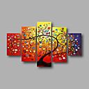 povoljno Top Umjetnik-Hang oslikana uljanim bojama Ručno oslikana - Cvjetni / Botanički Moderna Platno