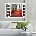 halpa Kuulokkeet-Koriste-seinätarrat - 3D-seinätarrat Maisema Olohuone / Makuuhuone / Ruokailuhuone