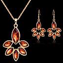 abordables Pendientes-Collar / Pendiente (Baño en Oro / Piedra Preciosa y Cristal / Zirconia Cúbica)- Vintage / Fiesta / Trabajo para Mujer