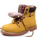 billige Damestøvler-Unisex Sko Lær Høst / Vinter Cowboy / Westernstøvler / Snøstøvler / Trendy støvler Støvler Gul / Lysebrun / Motorsykkelstøvler