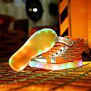 preiswerte Jungenschuhe-Jungen Schuhe Leder Frühling Neuheit / Leuchtende LED-Schuhe Sneakers Klett für Orange / Schwarz / Rot / Golden