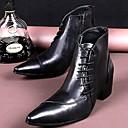 זול נעלי ספורט לגברים-בגדי ריקוד גברים עור אביב / סתיו / חורף נוחות 20.32-25.4 cm / מגפונים\מגף קרסול שחור / מסיבה וערב