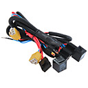 cheap Antenna Toppers-H4/9003 Headlight Booster Wire Harness Connector Relay Fuse Socket