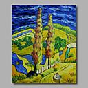 povoljno Poznate slike-Hang oslikana uljanim bojama Ručno oslikana - Pejzaž Moderna Platno