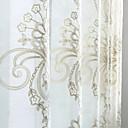 preiswerte Gardinen-Ösen Zweifach gefaltet zwei Panele Window Treatment Modern Neoklassisch Landhaus Stil, Jacquard Solide Schlafzimmer Leinen-Polyestergewebe