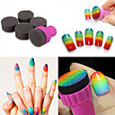 cheap Other Nail Tools-1 Set DIY 1 Stamper + 4 Changeable Sponge Nail Art Design Shade Transfer Stamper