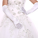 cheap Wedding Wraps-Spandex Opera Length Glove Bridal Gloves / Party / Evening Gloves With Rhinestone