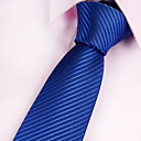 abordables Joyería para Hombre-Hombre Poliéster Corbata - Fiesta / Trabajo / Básico A Rayas / Azul