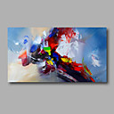 cheap Prints-Oil Painting Hand Painted - Abstract Modern Stretched Canvas / Rolled Canvas
