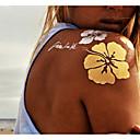 preiswerte Tattoo-Aufkleber-9 pcs Tattoo Aufkleber Temporary Tattoos Non Toxic Körperkunst Gesicht / Hände / Arm / Muster