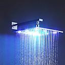 preiswerte Duschköpfe-Moderne Regendusche Chrom Eigenschaft - Regenfall LED, Duschkopf