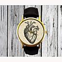 abordables Relojes de Moda-Mujer damas Reloj de Pulsera Cuarzo PU Banda Analógico Heart Shape Moda Negro Marrón Un año Vida de la Batería / Acero Inoxidable / SSUO 377