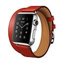 tanie Inteligentny zegarek Akcesoria-Watch Band na Apple Watch Series 4/3/2/1 Jabłko Klasyczna klamra Prawdziwa skóra Opaska na nadgarstek