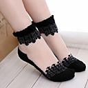 cheap Shoes Accessories-Women's Thin Socks, Lace Patchwork 1pc White Black Blue Pink Khaki