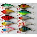 cheap Fishing Lures & Flies-10 pcs Hard Bait Fishing Lures Vibration/VIB Hard Bait Hard Plastic Sea Fishing Trolling & Boat Fishing General Fishing