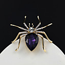 hesapli Moda Broşlar-Kadın's Örümcekler Hayvan Moda Zarif Broş Mücevher Mor Uyumluluk Düğün Parti Günlük