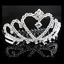 preiswerte Parykopfbedeckungen-Legierung Tiaras Kopfbedeckung Hochzeitsgesellschaft elegant klassisch femininen Stil
