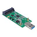 hesapli GoPro İçin Aksesuarlar-durumda olmadan usb 3.0 harici SSD pcba conveter bağdaştırıcı kartına cwxuan® Mini PCI-e mSATA