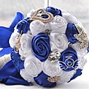 "cheap Wedding Flowers-Wedding Flowers Bouquets Wedding Satin 12.2""(Approx.31cm)"