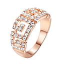 baratos Anéis-Mulheres Cristal Anel de declaração - Imitações de Diamante, Liga Luxo, Fashion Tamanho Único Prata / Dourado Para Casamento / Festa