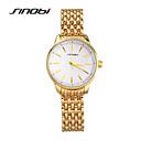 זול שעונים אופנתיים-SINOBI בגדי ריקוד נשים קווארץ עמיד במים משובץ זהב ורוד סגסוגת להקה אלגנטי אופנתי זהב